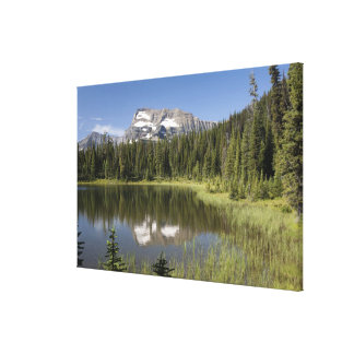 Mountain Peak Reflected In A Lake Canvas Print