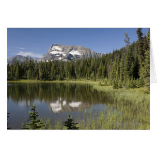 Mountain Peak Reflected In A Lake Card