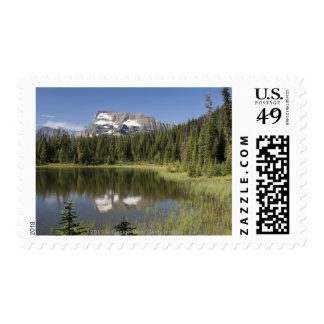 Mountain Peak Reflected In A Lake Postage