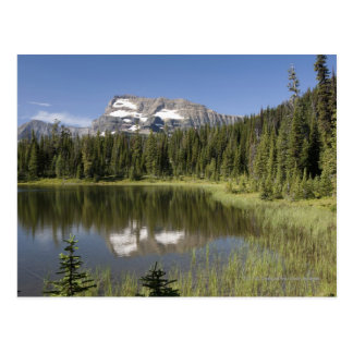 Mountain Peak Reflected In A Lake Postcard