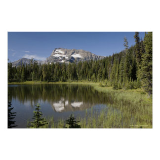 Mountain Peak Reflected In A Lake Poster
