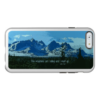 Mountain Peaks digital art - John Muir quote Incipio Feather® Shine iPhone 6 Case