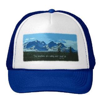 Mountain Peaks digital art - John Muir quote Trucker Hat