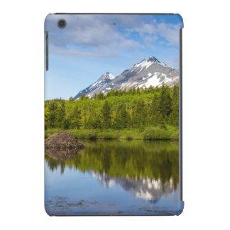 Mountain Peaks Reflect Into A Beaver Pond iPad Mini Retina Covers