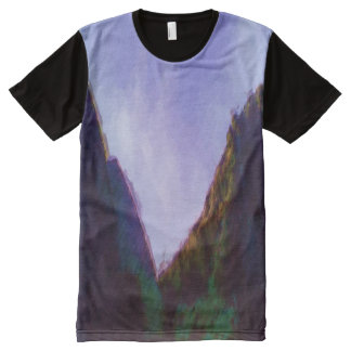 Mountain photo paint effect All-Over-Print T-Shirt