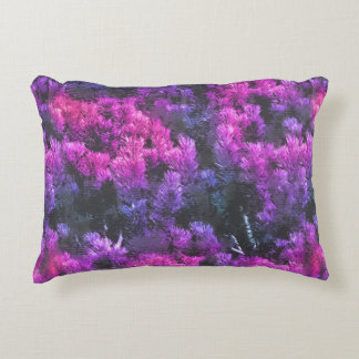 Mountain Pine Fantasy Pattern - Radiant Magenta Accent Pillow