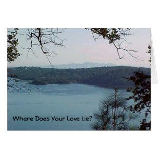 Mountain Poem Inspirational Card