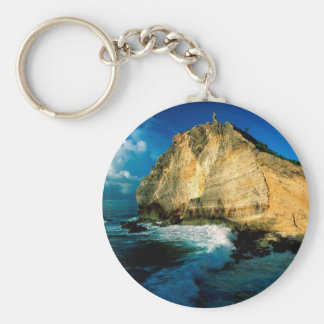 Mountain Pointe Des Chateaux Guadeloupe Keychain