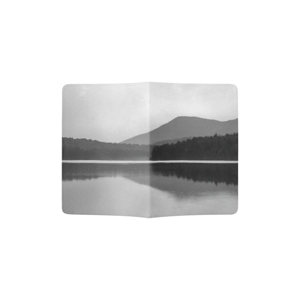 Mountain Pond Black and White Passport Holder