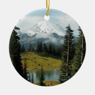 Mountain Portrait Single-Sided Ornament
