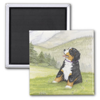 Mountain pup magnet