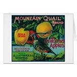 Mountain Quail Apple Crate Label