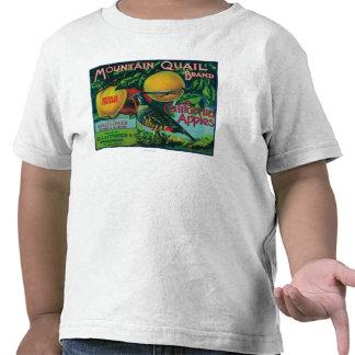 Mountain Quail Apple Crate Label Tee Shirt