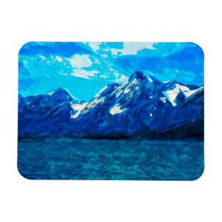 Mountain Range Abstract Impressionism Magnet