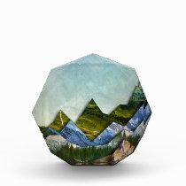Mountain Range Acrylic Award