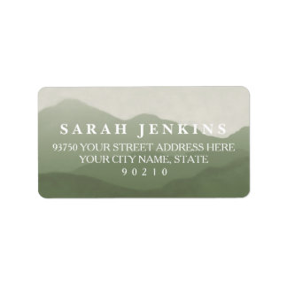 Mountain Range Address Labels