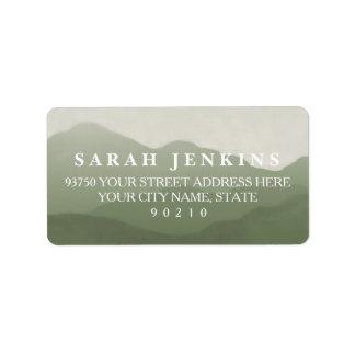Mountain Range Address Labels