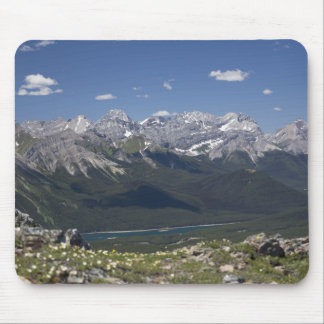 Mountain Range And Lake From On Top Of A Mountain Mouse Pad