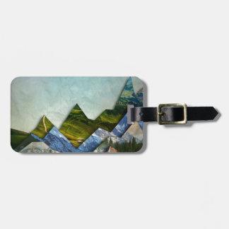 Mountain Range Bag Tag