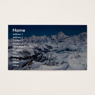 Mountain Range Business Card