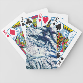Mountain Range from Satellite Bicycle Playing Cards