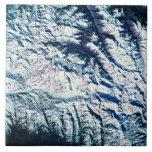 Mountain Range from Satellite Ceramic Tiles