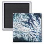 Mountain Range from Satellite Fridge Magnets