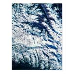 Mountain Range from Satellite Postcard
