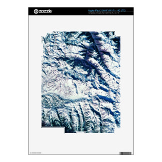 Mountain Range from Satellite Decal For iPad 3