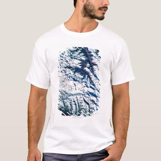 Mountain Range from Satellite T-Shirt