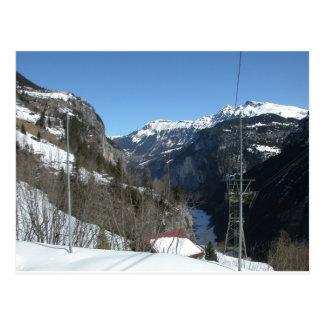 Mountain range, Gimmelwald, Jungfrau,Switzerland Postcard