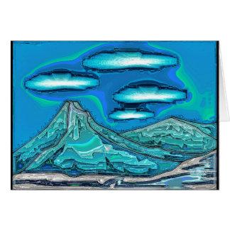 Mountain Range Greeting Card