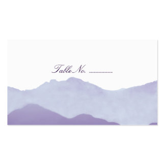 Mountain Range Guest Table Escort Cards Double-Sided Standard Business Cards (Pack Of 100)