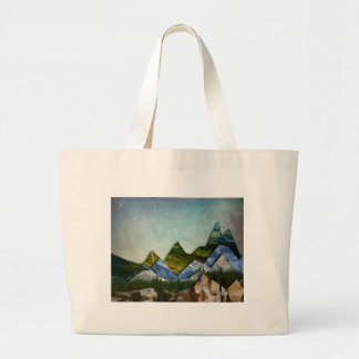 Mountain Range Large Tote Bag