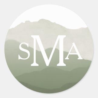 Mountain Range Monogram Envelope Seal