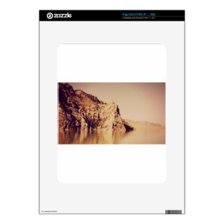 Mountain Range Near Water Nostalgic Postcard Image Skins For The iPad