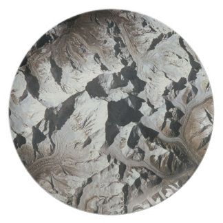 Mountain Range on Earth Dinner Plate