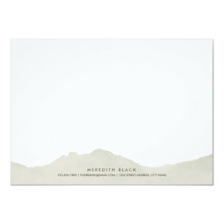 Mountain Range Personalized Stationery Flat Cards