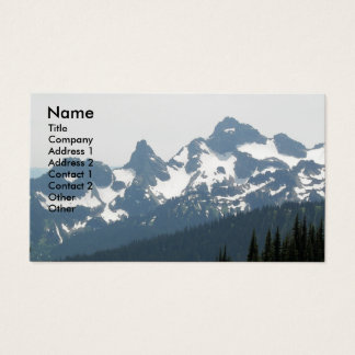 Mountain Range Photo Business Card