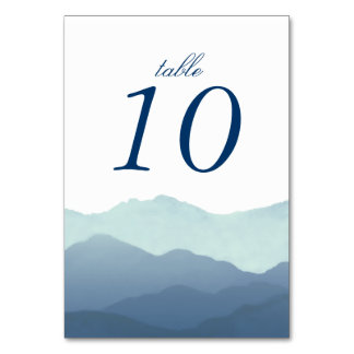 Mountain Range Table Number Cards