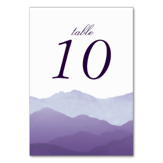 Mountain Range Table Number Cards Table Card
