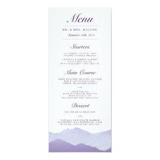 Mountain Range Wedding Dinner Menu 4x9.25 Paper Invitation Card
