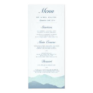 Mountain Range Wedding Dinner Menu Card