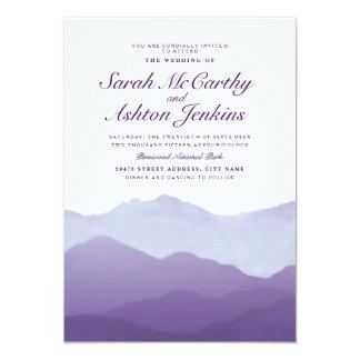 "Mountain Range Wedding Invite 5"" X 7"" Invitation Card"