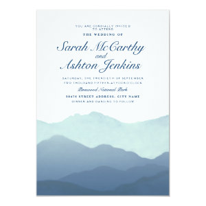 Mountain Range Wedding Invite 5