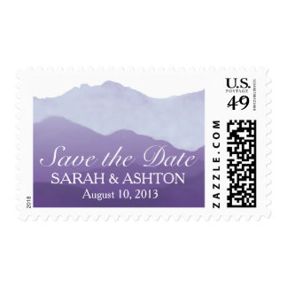 Mountain Range Wedding Postage Stamp
