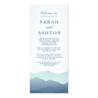 Mountain Range Wedding Program 4x9.25 Paper Invitation Card