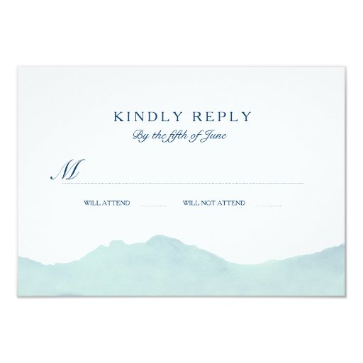 Mountain Range Wedding RSVP 3.5x5 Paper Invitation Card