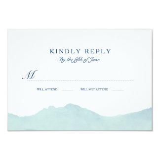 "Mountain Range Wedding RSVP 3.5"" X 5"" Invitation Card"