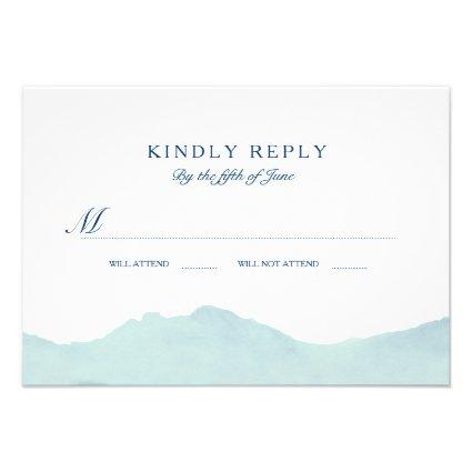 Mountain Range Wedding RSVP Invite